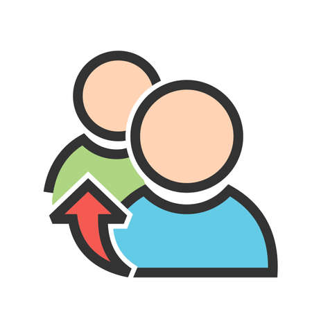 Referrals, reference, meeting icon image which can be used for admin dashboard, suitable for mobile apps, web apps and print media.