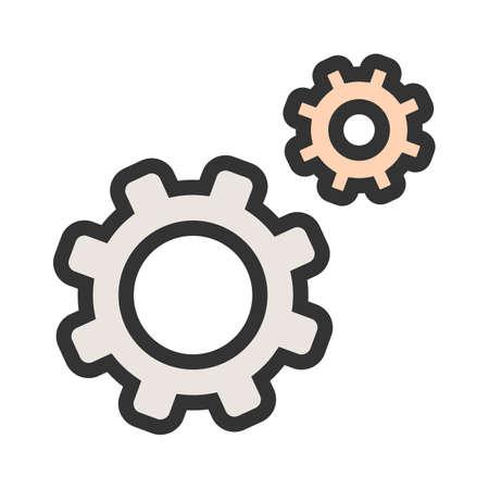 Instellingen, opties, pictogramafbeelding configureren. Kan ook worden gebruikt voor beheerdersdashboard. Geschikt voor mobiele apps, webapps en gedrukte media.