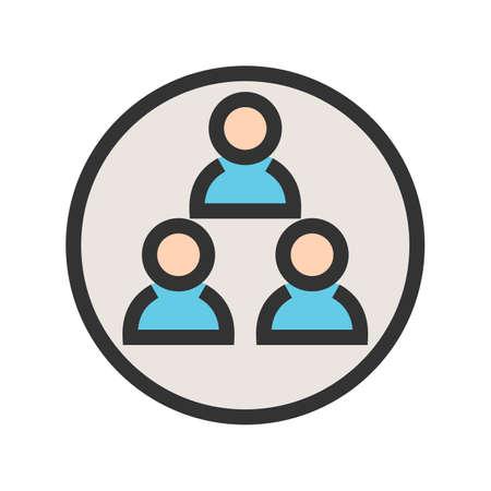 사용자, 그룹, 사람들 아이콘 이미지. 관리 대시 보드에도 사용할 수 있습니다. 모바일 앱, 웹 앱 및 인쇄 매체에 적합합니다. 스톡 콘텐츠 - 92771209