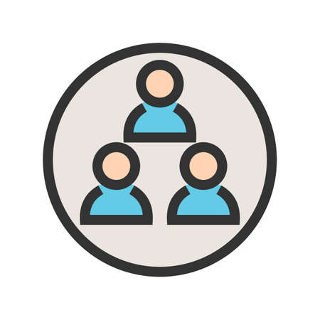 User, groups, peoples icon image. Can also be used for admin dashboard. Suitable for mobile apps, web apps and print media.