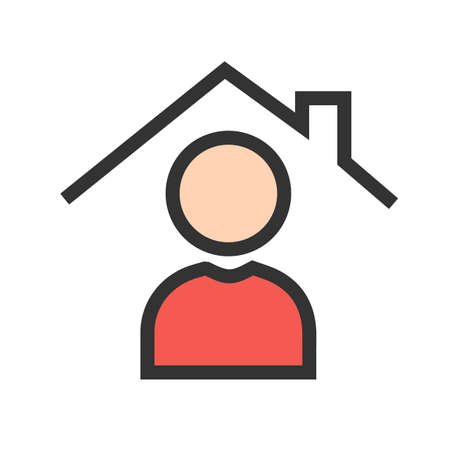 Home, estate, sale icon  image. Can also be used for real estate, property, land and buildings. Suitable for mobile apps, web apps and print media. Illustration