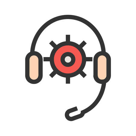 Headphones, support, technical, agent icon image. Can also be used for seo, digital marketing, technology. Suitable for use on web apps, mobile apps and print media.