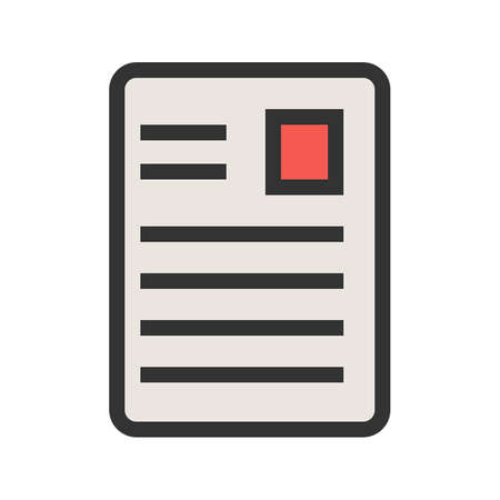 Article, page, document, data icon image. Can also be used for seo, digital marketing, technology. Suitable for use on web apps, mobile apps and print media.