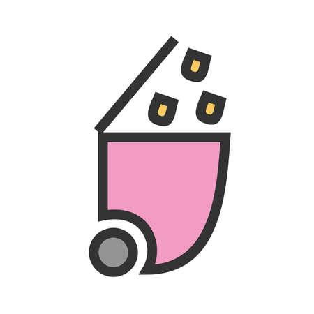 Recycle bin icon image vector illustration