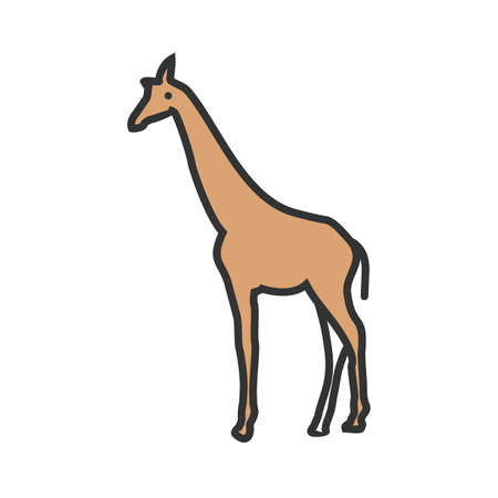 Giraffe, animal, wildlife icon vector image. Can also be used for Animals and Insects. Suitable for mobile apps, web apps and print media.