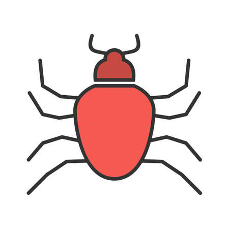 Bug, crawler, insect icon vector image. Can also be used for Animals and Insects. Suitable for mobile apps, web apps and print media. 向量圖像