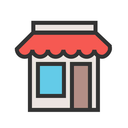Shopping, mall, center icon vector image. Can also be used for Black Friday sale and discounts. Suitable for use on web apps, mobile apps and print media. Vectores