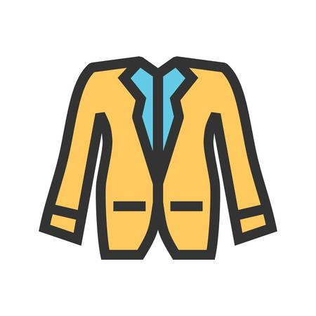 A Jacket, fashion, winter icon vector image. Can also be used for clothes and fashion. Suitable for web apps, mobile apps and print media.
