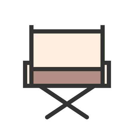 Director s chair, chair, film making icon vector image. Can also be used for multimedia. Suitable for use on web apps, mobile apps and print media. Illusztráció