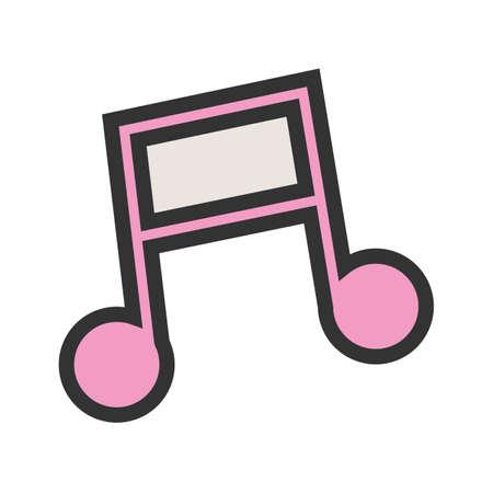 Music Note I flat design illustration. Ilustração
