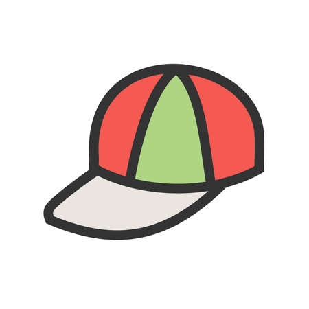 Cap, hat, style icon vector image. Can also be used for summer, recreation and fun. Suitable for use on mobile apps, web apps and print media. Ilustracja