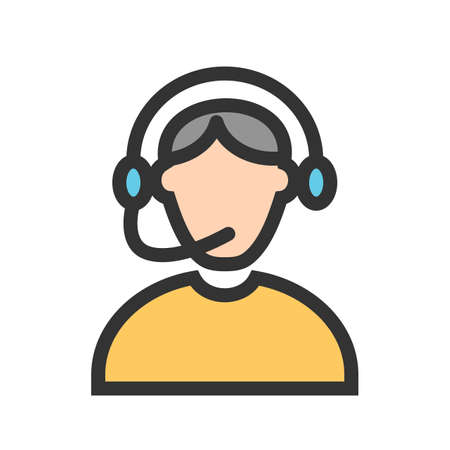 Call, center, operator icon vector image. Can also be used for professionals. Suitable for web apps, mobile apps and print media. Illustration