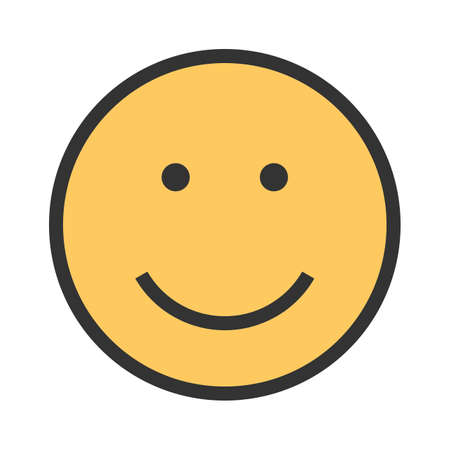 Smile, man, smiling icon vector image. Can also be used for emotions and smileys. Suitable for mobile apps, web apps and print media.