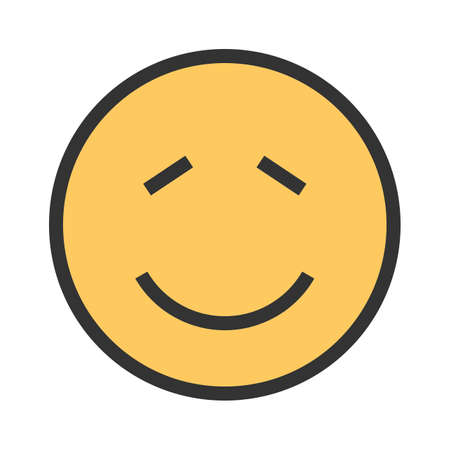 Shy, person, expression icon vector image. Can also be used for emotions and smileys. Suitable for mobile apps, web apps and print media. Illustration