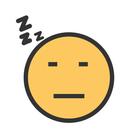 Sleepy, tired, sleeping icon vector image. Can also be used for emotions and smileys. Suitable for mobile apps, web apps and print media.