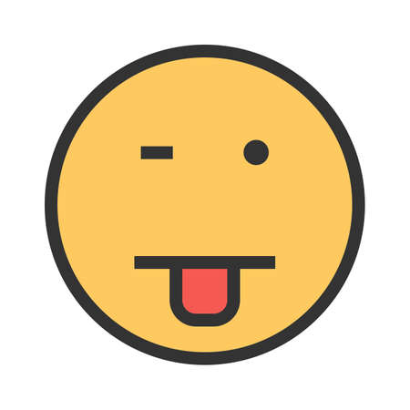 Drooling, emotions, newborn icon vector image. Can also be used for emotions and smileys. Suitable for mobile apps, web apps and print media.