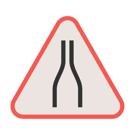 Sign, road, traffic icon vector image. Can also be used for traffic signs. Suitable for web apps, mobile apps and print media. Ilustração