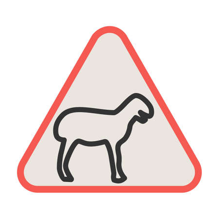 Animal, africa, crossing icon vector image. Can also be used for traffic signs. Suitable for web apps, mobile apps and print media.