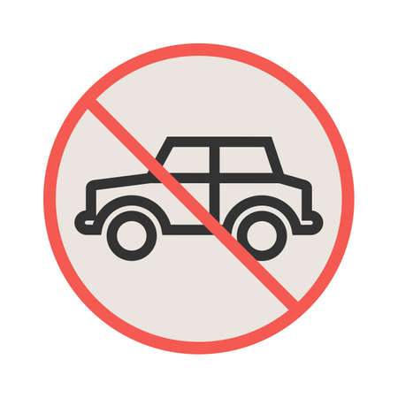 No, parking, sign icon vector image. Can also be used for traffic signs. Suitable for web apps, mobile apps and print media.