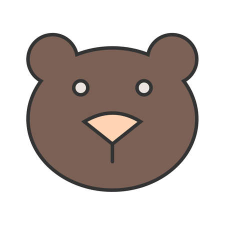 Bear, cub, polar icon vector image. Can also be used for Animals and Insects. Çizim