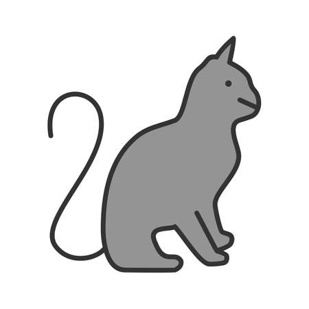 Wild cat, pussy cat icon vector image. Can also be used for Animals and Insects.
