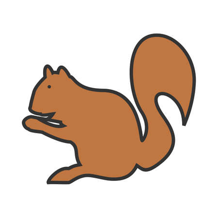 Squirrel, red, animal icon vector image. Can also be used for Animals and Insects. Suitable for mobile apps, web apps and print media.