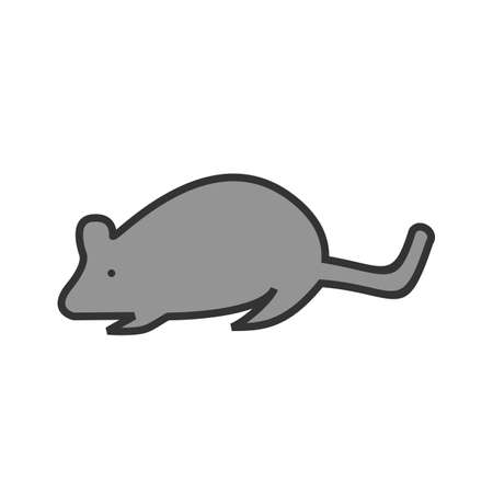 Mouse, animal, rat icon vector image. Can also be used for Animals and Insects. Suitable for mobile apps, web apps and print media.