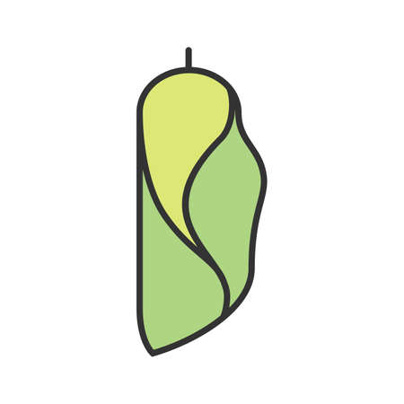 Cocoon, metamorphosis, insect icon vector image. Can also be used for Animals and Insects. Suitable for mobile apps, web apps and print media.