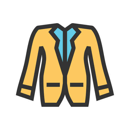 Jacket, fashion, winter icon vector image. Can also be used for clothes and fashion. Suitable for web apps, mobile apps and print media. Illustration