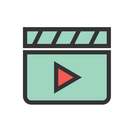 Clapper board film icon Çizim