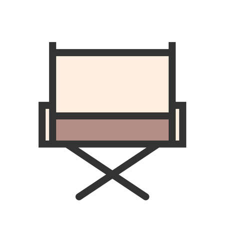 Director s chair icon Illustration
