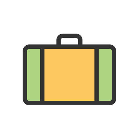 Suitcase, box, luggage icon vector image.Can also be used for summer, recreation and fun. Suitable for use on mobile apps, web apps and print media.