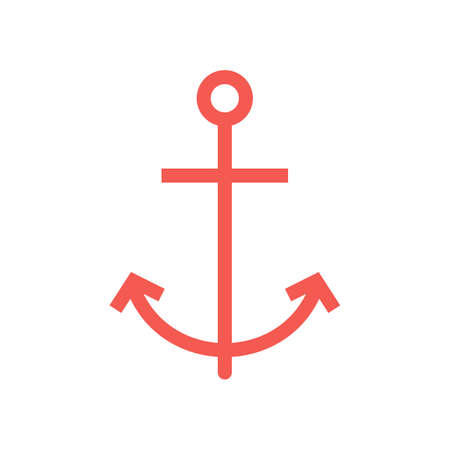 Anchor, ship, boat icon vector image. Can also be used for summer, recreation and fun. Suitable for use on mobile apps, web apps and print media. Ilustrace