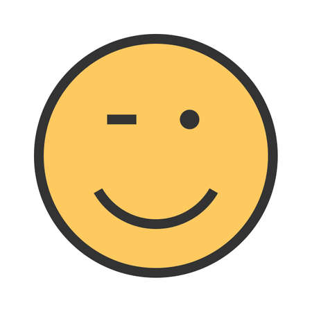 Wink, man, winking icon vector image. Can also be used for emotions and smileys. Illustration
