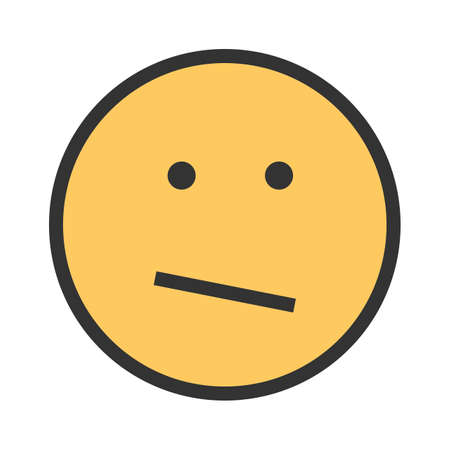 Confused, business, confusion icon vector image. Can also be used for emotions and smileys. Ilustrace