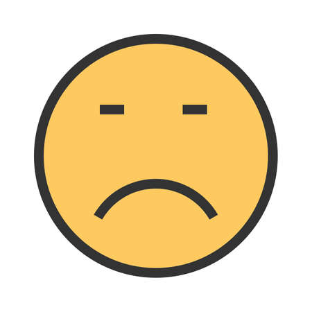 Loser, sad, upset icon vector image. Can also be used for emotions and smileys.