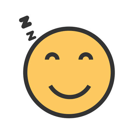 Sleepy, tired, sleeping icon  image. Can  be used for emotions and smileys. Suitable for mobile apps, web apps and print media. Stock Vector - 93078309