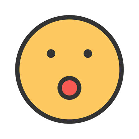 Flashed, shocked, surprised icon vector image. Can also be used for emotions and smileys.