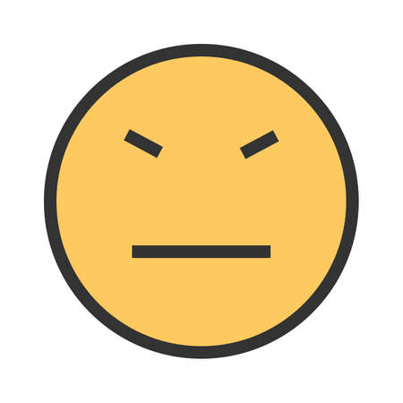 Stubborn, angry, rude icon vector image. Can also be used for emoticons and smileys.