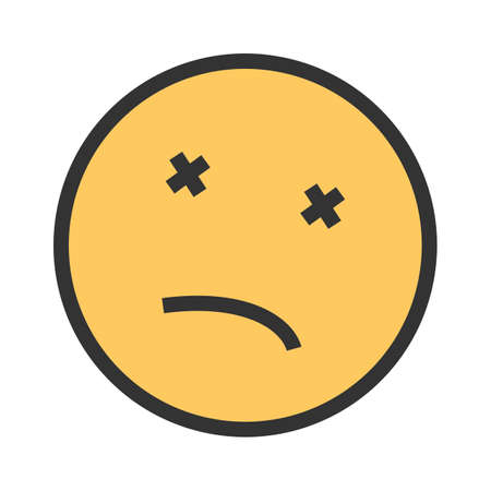 Dead, body, death icon vector image. Can also be used for emotions and smileys.