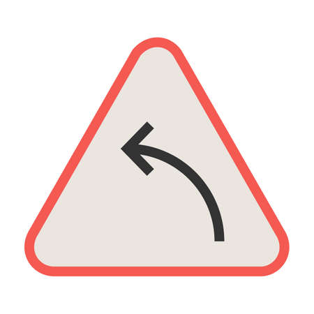 Sign, arrow, curve icon vector image. Can also be used for traffic signs. Suitable for web apps, mobile apps and print media.
