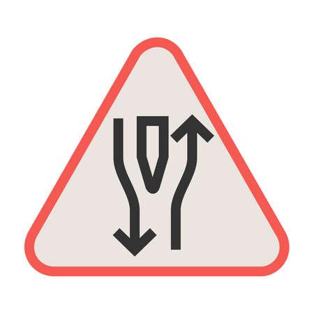 Route, droite, image vectorielle d'icône ouverte. Peut également être utilisé pour les panneaux de signalisation.