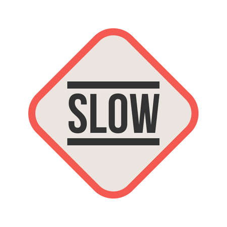 Slow, sign, down icon vector image. Can also be used for traffic signs.