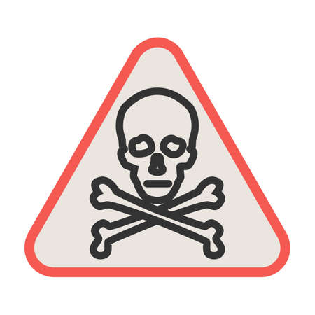 Danger, sign, warning icon vector image. Can also be used for traffic signs. Suitable for web apps, mobile apps and print media.