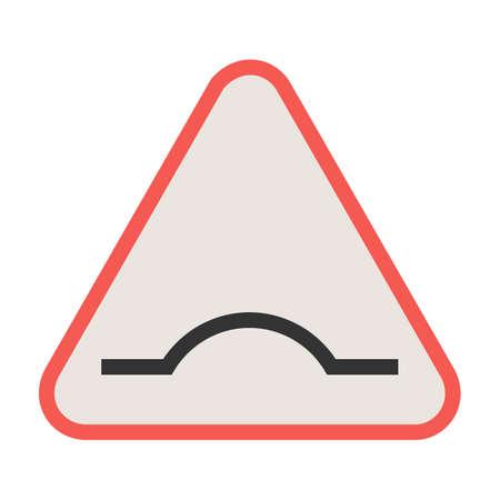 도, 경고, 기호 아이콘 벡터 이미지입니다. 교통 표지판에도 사용할 수 있습니다. 웹 앱, 모바일 앱 및 인쇄 매체에 적합합니다.
