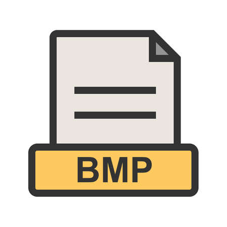 BMP, file, extension icon vector image. Can also be used for file format, design and storage. Suitable for mobile apps, web apps and print media.
