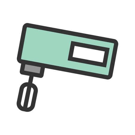 믹서, 부엌, 음식 아이콘 벡터 이미지. 가전 및 가전 제품에 사용할 수도 있습니다. 모바일 앱, 웹 앱 및 인쇄 매체에 적합합니다.
