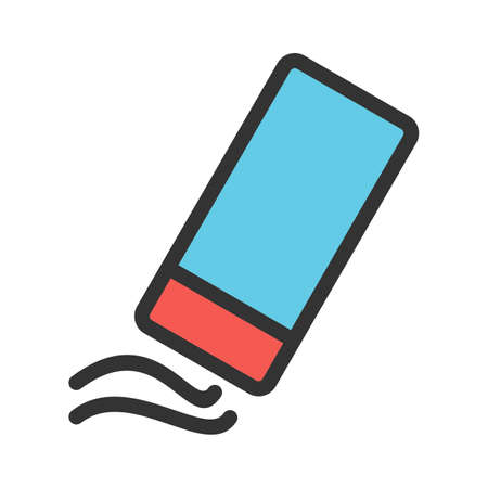 Eraser, rubber, pencil icon vector image.Can also be used for art and designing. Suitable for mobile apps, web apps and print media.