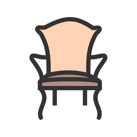 Cómoda silla moderna icono vector de la imagen. Foto de archivo - 93391966