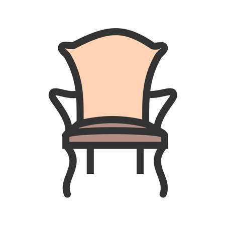 Comfortable Chair modern icon vector image.